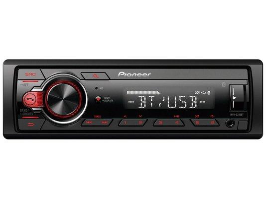 Auto Rádio Pioneer com Bluetooth, MP3 Player, USB e AM/FM (Mvh-s218bt) - Preto