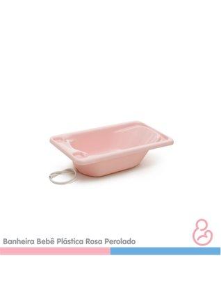 Banheira Galzerano (7055rc) Bebe Plástica Rosa Claro