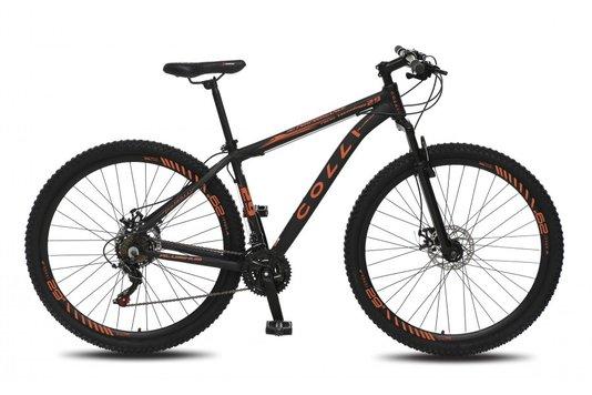Bicicleta Colli Aro 29 Shimano 21 Marchas Suspensão Dianteira Quadro de Alumínio – Fosco/laranja Neon