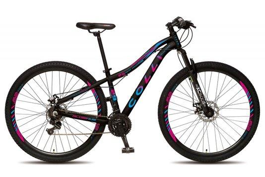 Bicicleta Colli Aro 29 Shimano 21 Marchas Suspensão Dianteira Quadro de Alumínio Rebaixado – Bicollor