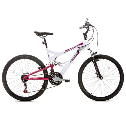 Bicicleta Houston Vivid A-26 Cor Branco/rosa Pink