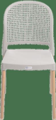 Cadeira Forte Plastico Vintage Branca