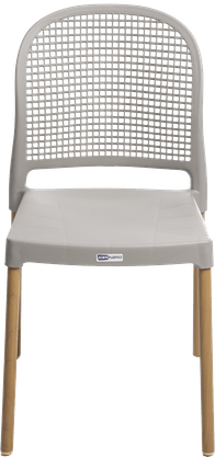 Cadeira Forte Plástico Vintage - Nude