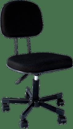 Cadeira Só Aço (PA 1352) Secretária giratória estofada injetada – Preto