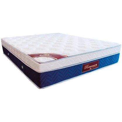 Colchão Eurosono Casal Romance Super King com Molas ensacadas e Pilow Eurotop 193x203x33 Cm – Azul