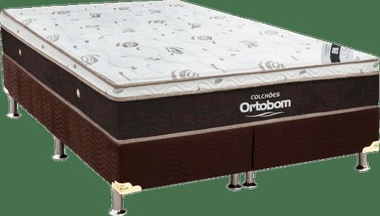 Conjunto Box-Colchão Ortobom Sleep King+Cama Sleep King  186X198X32-Marrom
