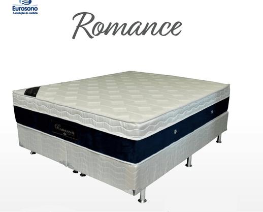 Conjunto Box Eurosono Casal Romance com Base + Colchão com Molas Pocket e EuroPilow – Tamanho Quenn 158x198x71cm – Branco