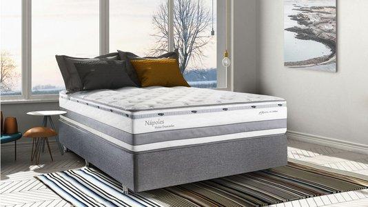 Conjunto Box Herval Mola Ensacada 158X198X34 Napoles One Side Pillow