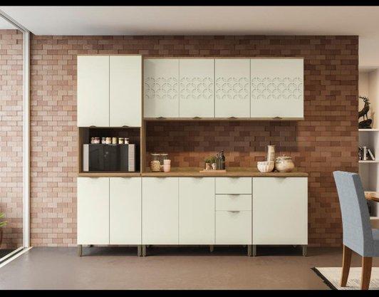 Cozinha Lótus Kappesberg (CB596) (AER J743,J747 / BAL J722,J725 / KIT J728 / TPO E603,E609)- Freijo/OFF White