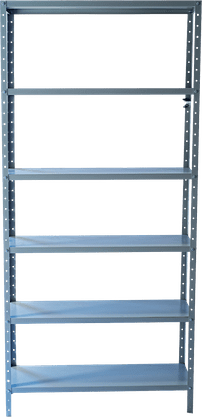 Estante So Aço (PA 0136) Aberta Com 6 Prateleira – Cinza