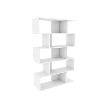 Estante Tcil Twister 100% MDF com 4 Pés - Branco / Branco