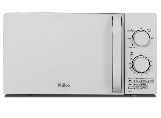 Forno Microondas Philco (PMO23MB) 20L Branco 220V
