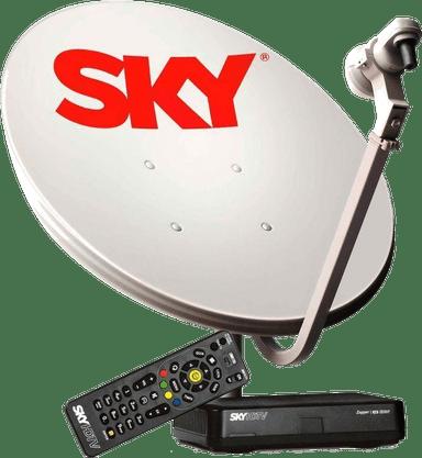 Kit Receptor + Antena 60cm Sky Conforto HDTV Pré-Pago - Elsys