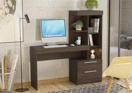 Mesa Notável Office com 2 Gavetas (Nt 2010) - Nogal Trend / Nogal Trend