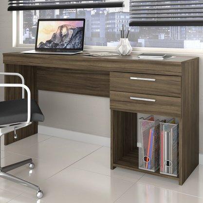 Mesa Para Escritório Notável Office com 2 Gavetas (Ref. 220) - Nogal Trend / Nogal Trend