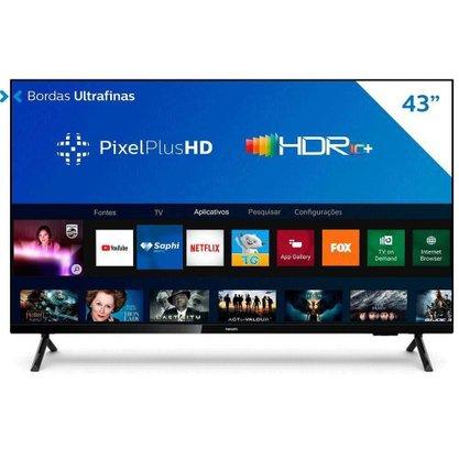 "Smart TV Philips LED Full HD 43"" (43PFG6825/78) HDMI/USB, Wi-fi Integrado"