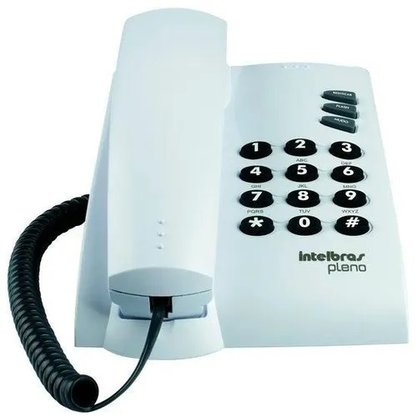 Telefone Intelbras Com Fio Pleno Cinza Artico Sem Chave