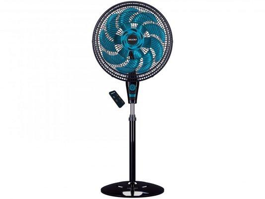 Ventilador de Coluna Mallory Neo Air 15 Timer (B94401602 ) 3 Velocidades  Preto/azul – 220v