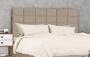 Cabeceira Box Tuboarte Bronze Tamanho Ajustável Casal ou Queen Size -  Tecido Suede Castor Amassado
